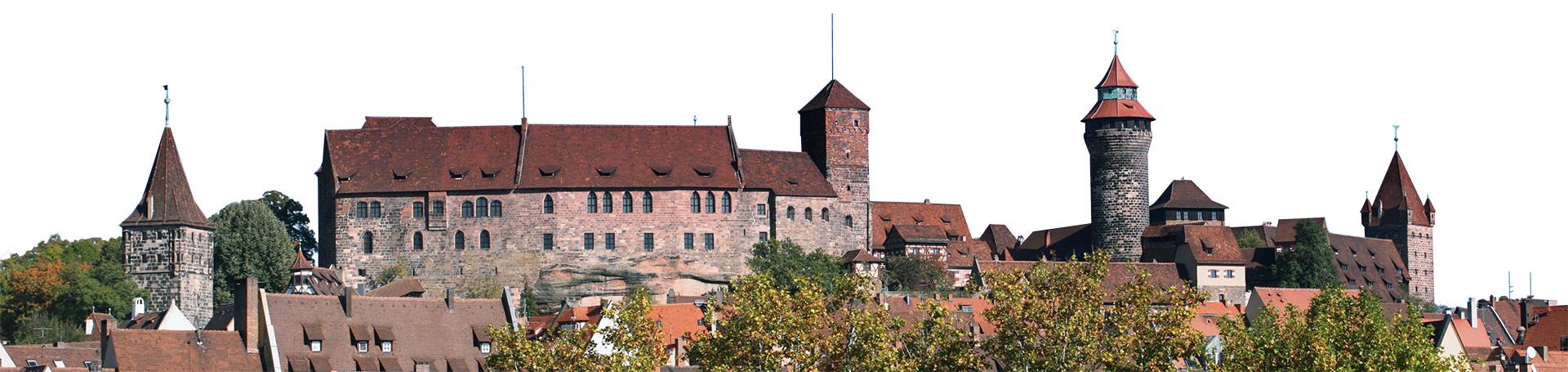 Panorama Nuenberger Burg Kaiserburg