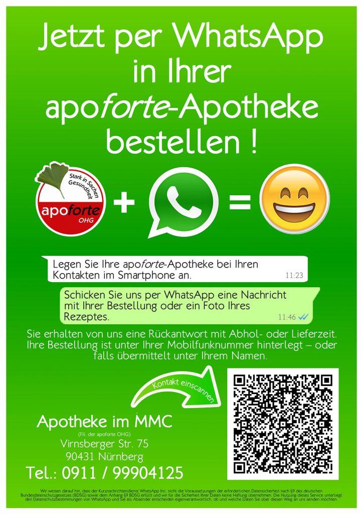 Apoforte MMC bestellen mittels WhatsApp